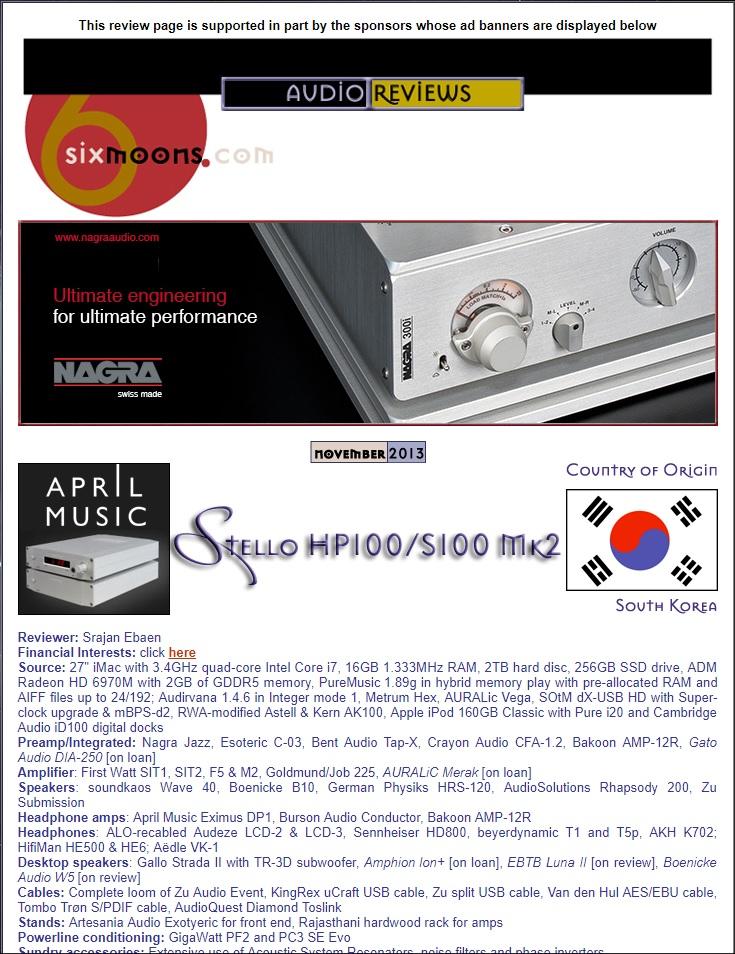 Stello S100 Test 1