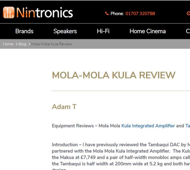 Nintronics Adam T tester Kula som integrert forsterker